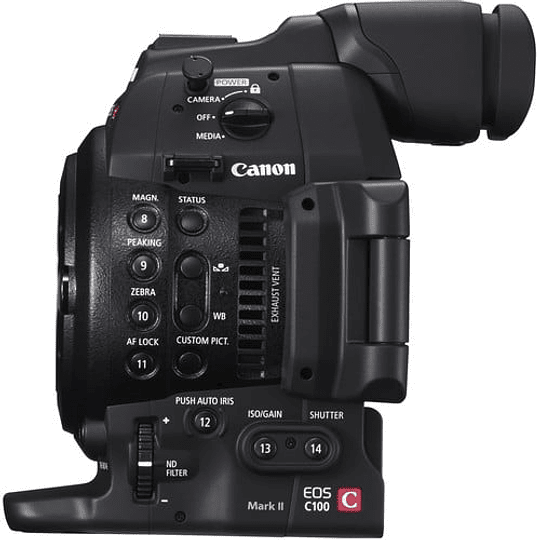 Canon EOS C100 Mark II Cinema Cámara EOS con Dual Pixel CMOS AF (solo cuerpo) - Image 6