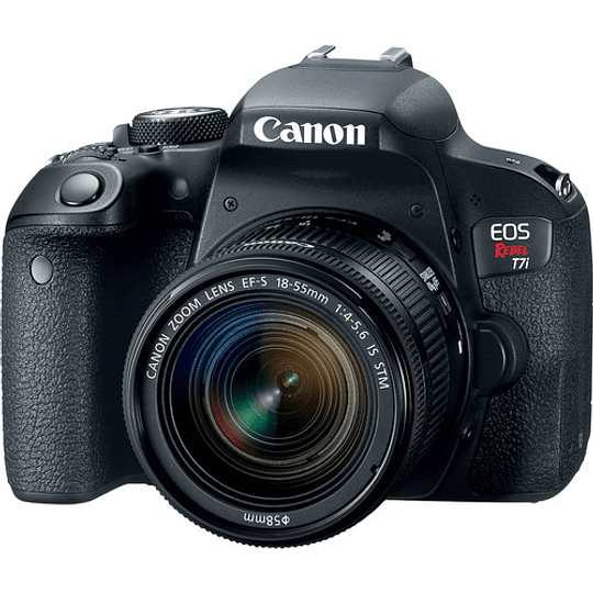 Canon EOS Rebel T7i DSLR Kit Cámara con Lente 18-55mm - Image 1