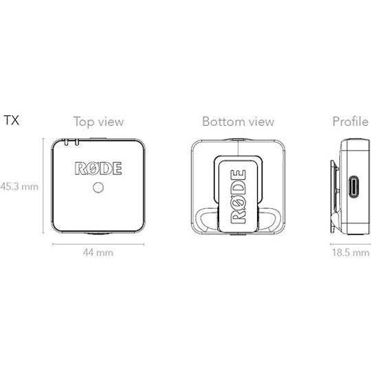 Rode Wireless GO Sistema de Micrófono Inalámbrico Digital Compacto (2,4 GHz) - Image 10