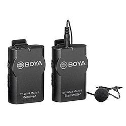 BOYA BY-WM4 MK II Micrófono Lavalier Wireless para Smartphone y Cámaras DSLR