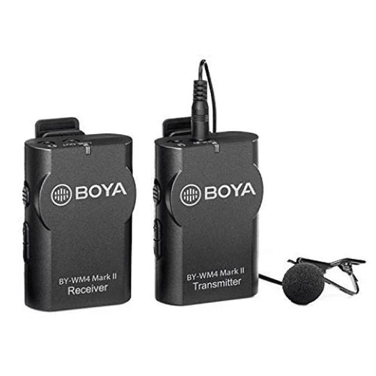BOYA BY-WM4 MK II Micrófono Lavalier Wireless para Smartphone y Cámaras DSLR - Image 1