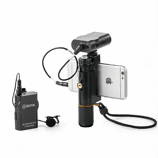 BOYA BY-WM4 MK II Micrófono Lavalier Wireless para Smartphone y Cámaras DSLR - Image 3