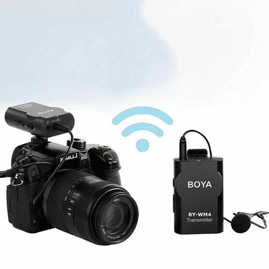 BOYA BY-WM4 MK II Micrófono Lavalier Wireless para Smartphone y Cámaras DSLR - Image 9
