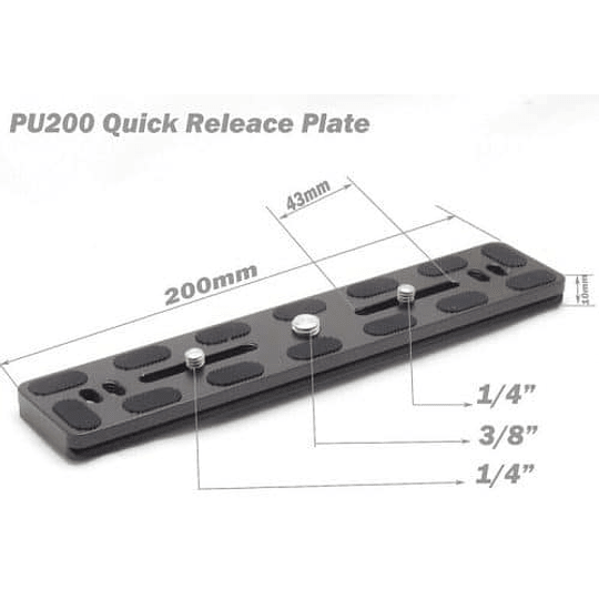 Benro PU200 Arca-Swiss Style Quick Release Plate - Image 3