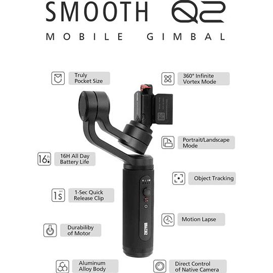 Zhiyun-Tech Smooth-Q2 Estabilizador Portátil para Smartphone - Image 9