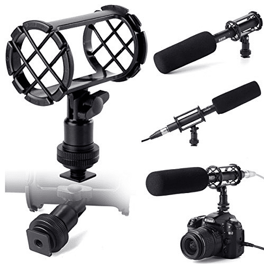 BOYA BY-C04 Montura para micrófonos en Cámara y Cañas - Image 3