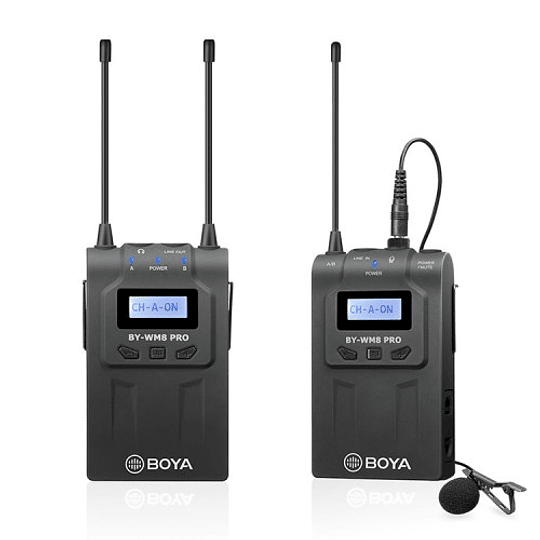 BOYA BY-WM8 Pro-K1 Sistema Micrófono Inalámbrico UHF (Transmisor-Receptor) - Image 1
