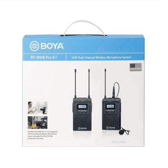 BOYA BY-WM8 Pro-K1 Sistema Micrófono Inalámbrico UHF (Transmisor-Receptor) - Image 5