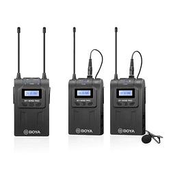 BOYA BY-WM8 Pro-K2 UHF Sistema Lavalier Wireless de Doble Canal