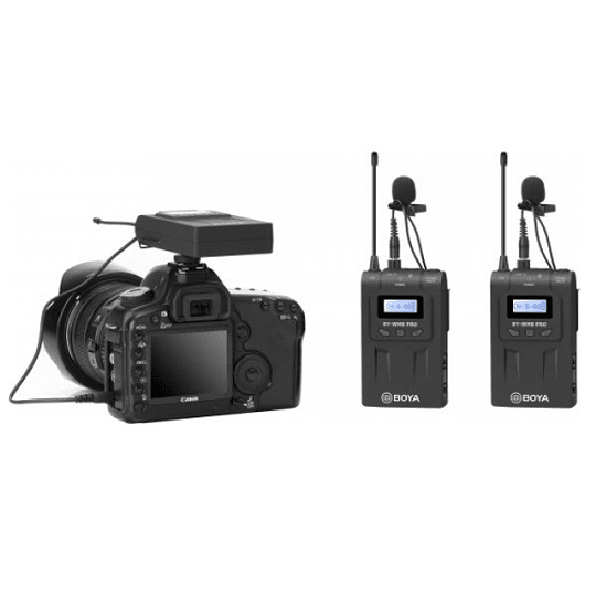 BOYA BY-WM8 Pro-K2 UHF Sistema Lavalier Wireless de Doble Canal - Image 2