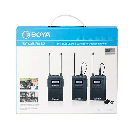 BOYA BY-WM8 Pro-K2 UHF Sistema Lavalier Wireless de Doble Canal - Image 3