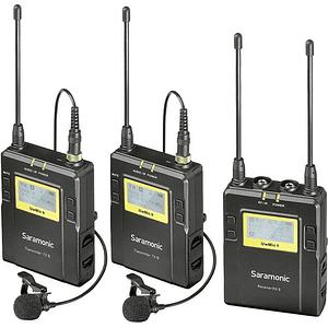 Saramonic RX9+RX9+TX9 PACKAGE Kit Digital Inalámbrico Dual Sistema de Micrófono de Solapa