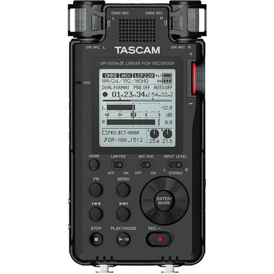 Tascam DR-100MKIII PCM Grabador de Audio Portátil de 4 Canales y 2 XLR - Image 1