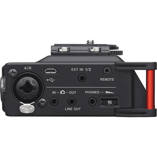 Tascam DR-70D Grabador de Audio Portátil de 4 canales para Cámaras (4 XLR) - Image 4