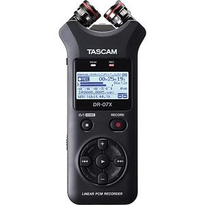 Tascam DR-07X Grabador de Audio Portátil de 2 entradas / 2 Pistas con Micrófono Estéreo Ajustable Integrado