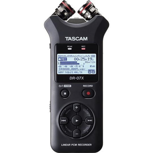 Tascam DR-07X Grabador de Audio Portátil de 2 entradas / 2 Pistas con Micrófono Estéreo Ajustable Integrado - Image 1