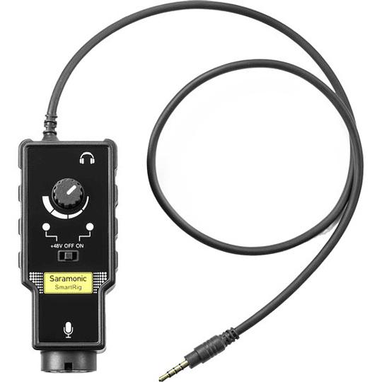 Saramonic SmartRig II Adaptador de Audio XLR con Phantom Power Preamplificador para Smartphones - Image 1