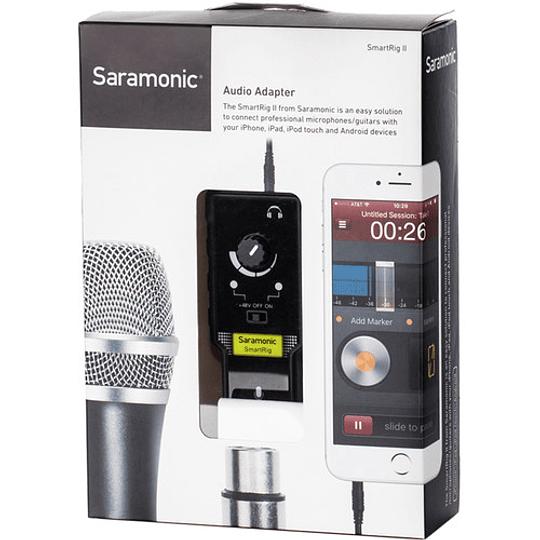 Saramonic SmartRig II Adaptador de Audio XLR con Phantom Power Preamplificador para Smartphones - Image 5