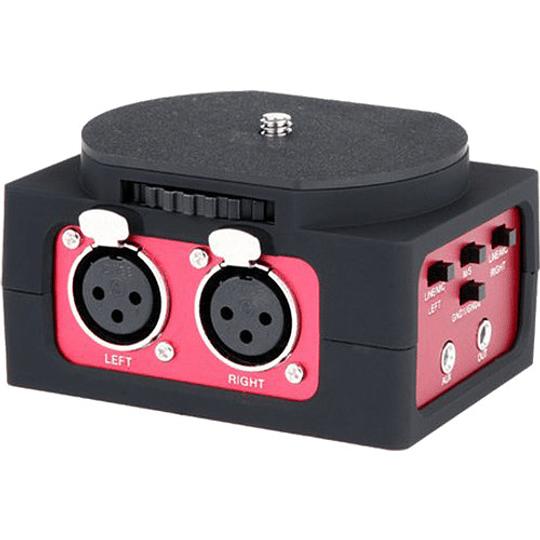 Saramonic SR-AX101 Adaptador de Audio Pasivo de 2 Canales para Cámaras - Image 1