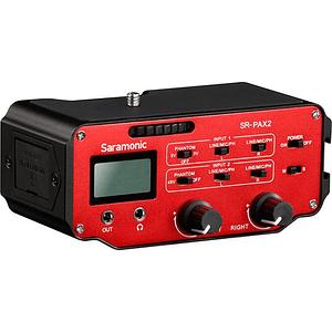 Saramonic SR-PAX2 Adaptador de Audio Pasivo de 2 Canales para Cámaras