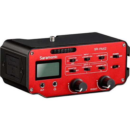 Saramonic SR-PAX2 Adaptador de Audio Pasivo de 2 Canales para Cámaras - Image 1