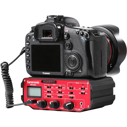 Saramonic SR-AX107 Adaptador de Audio XLR de 2 Canales con Transformador de Aislamiento para Cámaras - Image 4