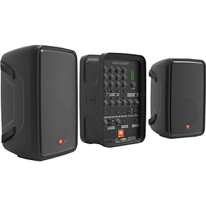 JBL EON208P Sistema de PA con Mezclador de 8 Canales y Bluetooth