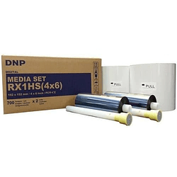 DNP RX1 4×6″ 2 Rollos de Insumos Fotográficos (1400 fotos)