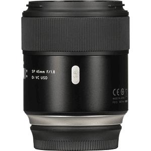 Lente Tamron SP 45mm f/1.8 Di VC USD para Canon