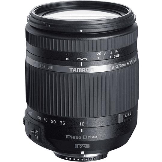 Lente Tamron 18-270mm f/3.5-6.3 Di II VC PZD AF para Nikon - Image 1