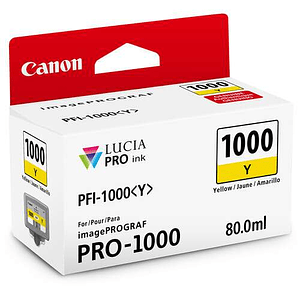 Canon PFI-1000 Y Tinta YELLOW LUCIA PRO (imagePROGRAF PRO-1000)