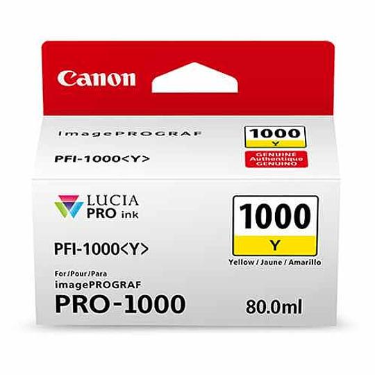 Canon PFI-1000 Y Tinta YELLOW LUCIA PRO (imagePROGRAF PRO-1000) - Image 3