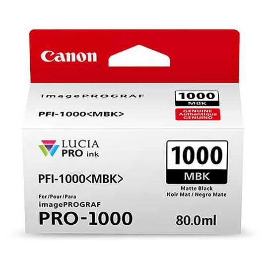 Canon PFI-1000 MBK Tinta MATTE BLACK LUCIA PRO (imagePROGRAF PRO-1000) - Image 2