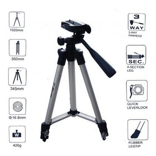 POWERWIN Kit Mini Trípode 3110A para Cámaras y Smartphone - Image 7