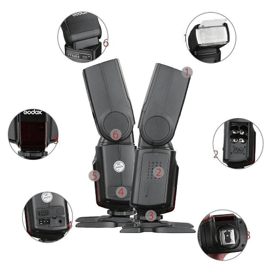 Godox TT520II Thinklite Wireless 433MHz Flash Speedlite Universal - Image 7