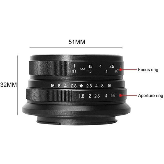 7artisans Photoelectric 25mm f/1.8 Lente para Fujifilm X - Image 4