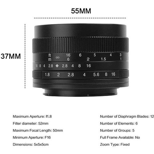 7artisans Photoelectric 50mm f/1.8 Lente para Fujifilm X - Image 6