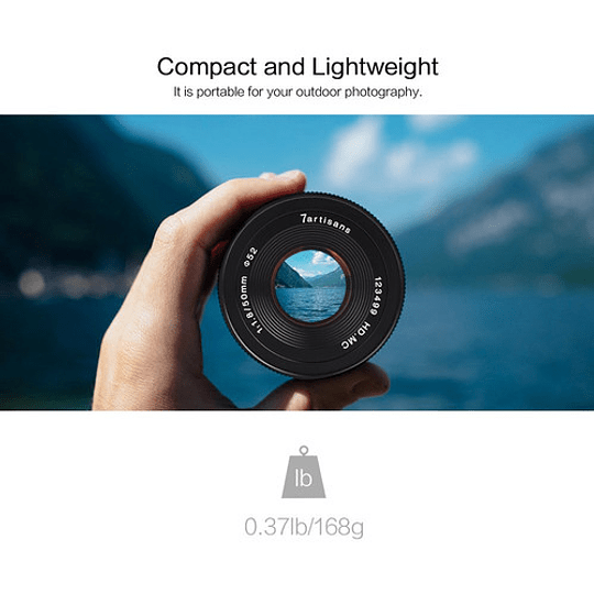 7artisans Photoelectric 50mm f/1.8 Lente para Fujifilm X - Image 8