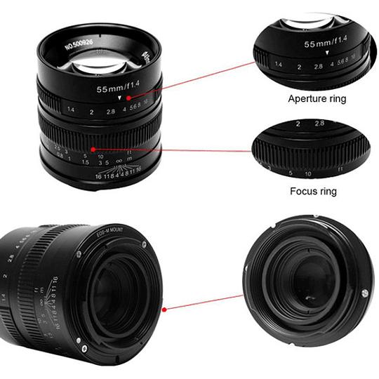 7artisans Photoelectric 55mm f/1.4 Lente para Fujifilm X - Image 4