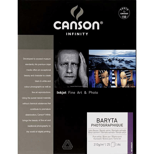 CANSON 200002279 Baryta Photographique 310gr A4 25 hojas - Image 1