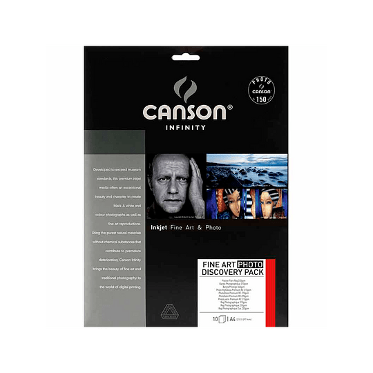 Canson 206211036 Platine fibre Rag 310 gr A4 25 hojas