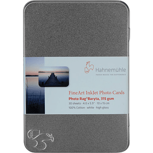 Hahnemuhle 10640773 Photo Rag Baryta 315g Card 10x15 30H