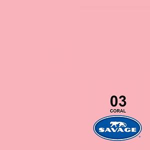 Savage Fondo de Papel #03 Coral (1,35x11m)