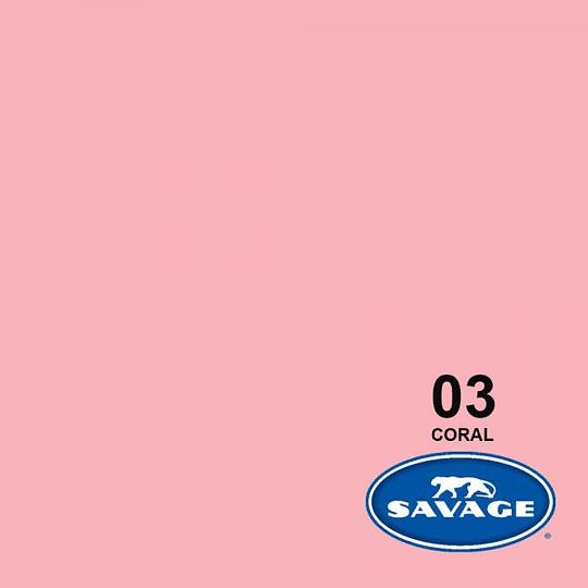 Savage Fondo de Papel #03 Coral (1,35x11m) - Image 1
