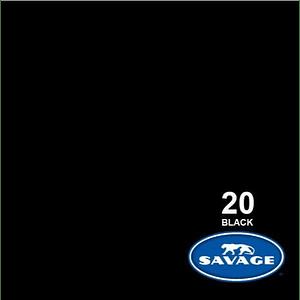 Savage 20-12 Fondo de papel Super Black 2.72 X 11M
