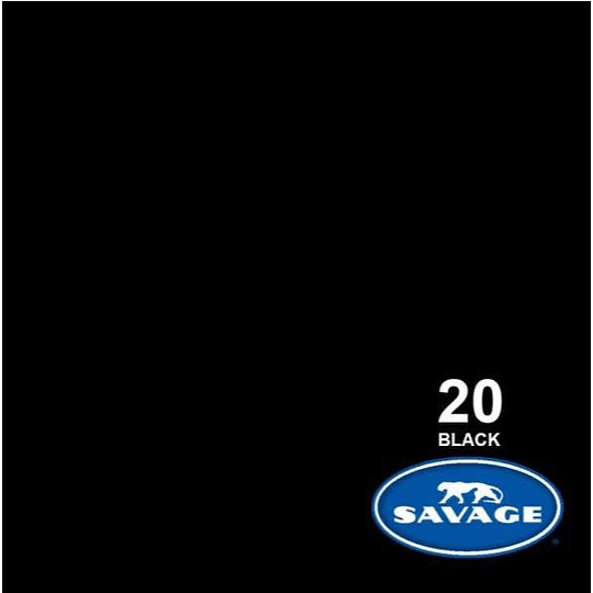 Savage Fondo de Papel #20 Black (2,72x11m) - Image 1