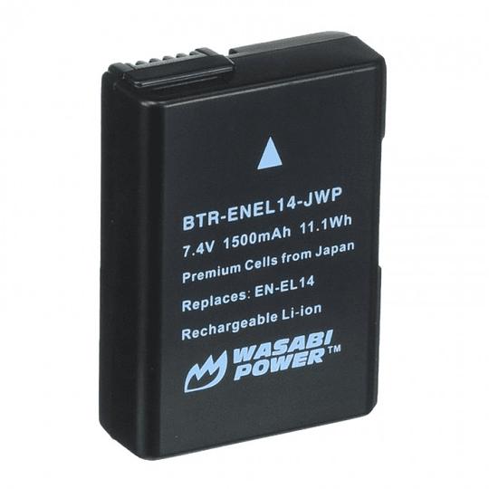 Wasabi Power ENEL14 Batería para Nikon / BTR-ENEL14-DEC-JWP