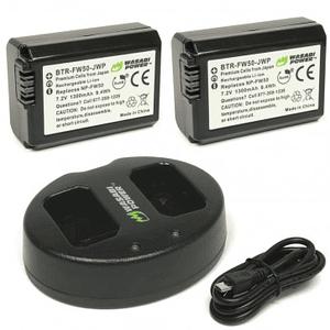 Wasabi Power NP-FW50 Kit de Baterías y Cargador para Sony / KIT-BB-FW50