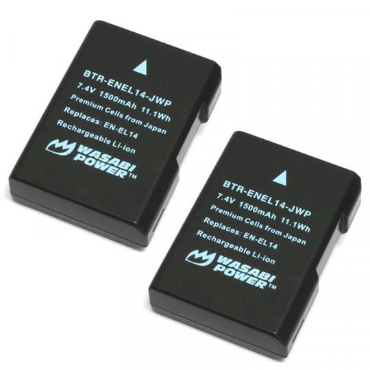 Wasabi Power EN-EL14 Kit de 2 baterías y cargador EN-EL14  para Nikon - Image 4