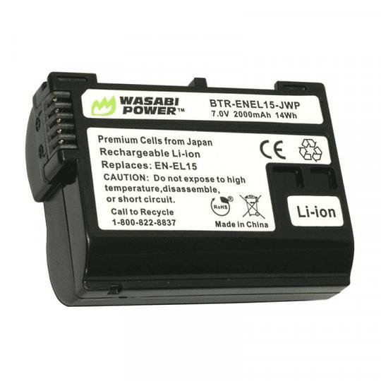 Wasabi Power EN-EL15 Kit de 2 Baterías y cargador doble EN-EL15 para Nikon - Image 2